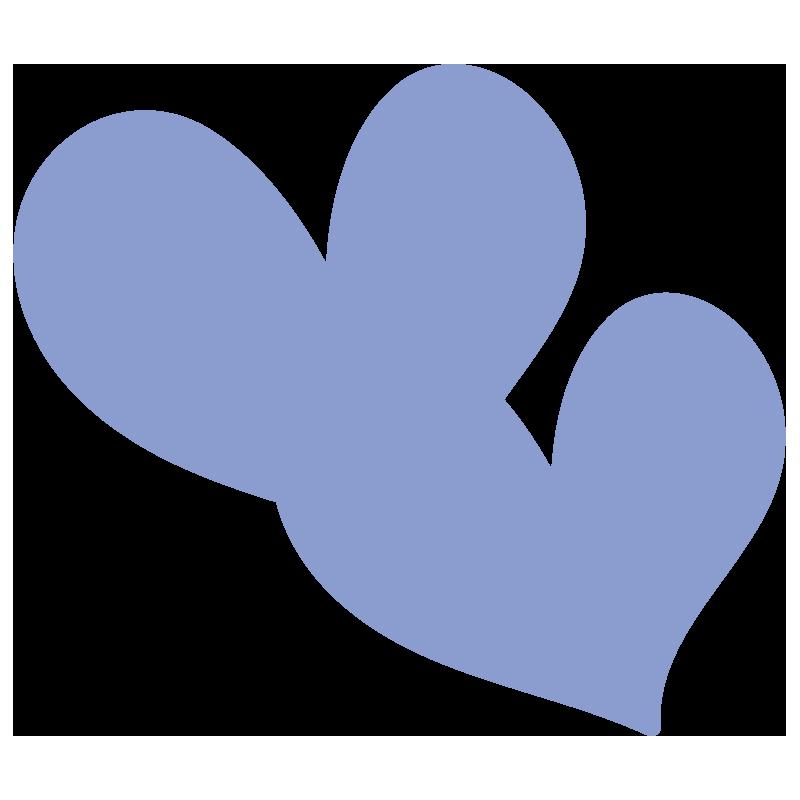 透明の青いハート