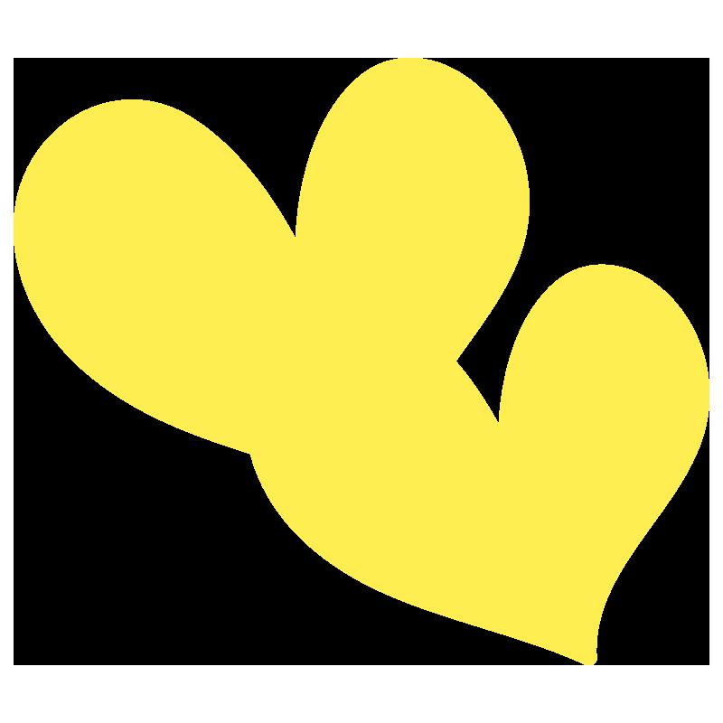 透明の黄色いハート