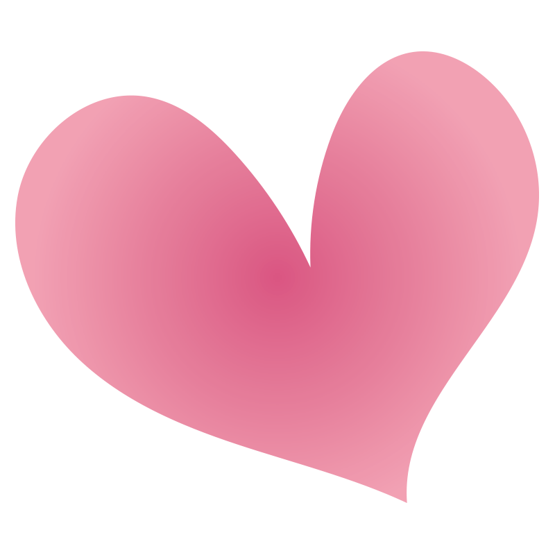 ピンクのグラデーションハート