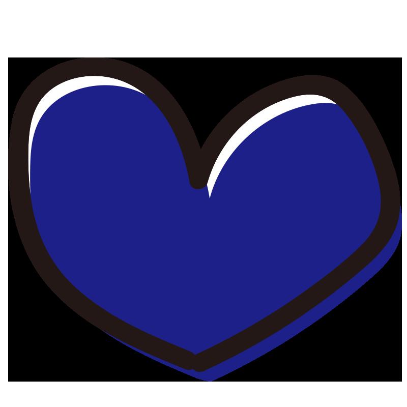 青色のハート