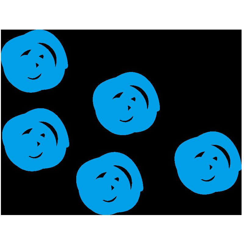 青色の水玉
