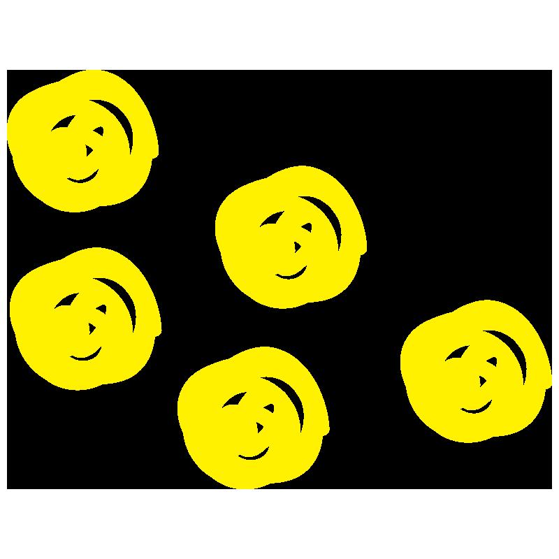 黄色の水玉