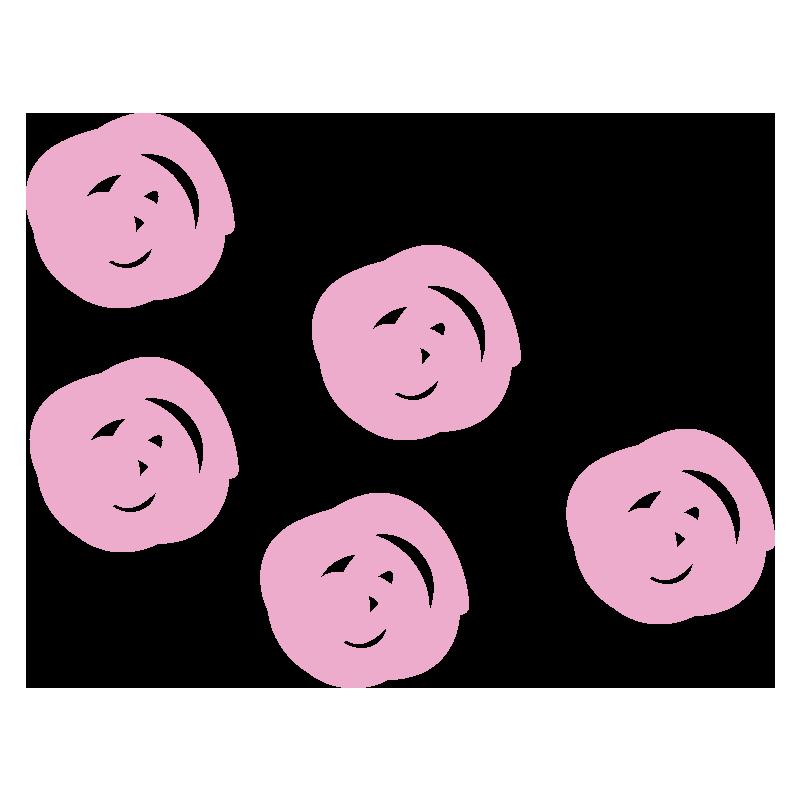 ピンクの水玉