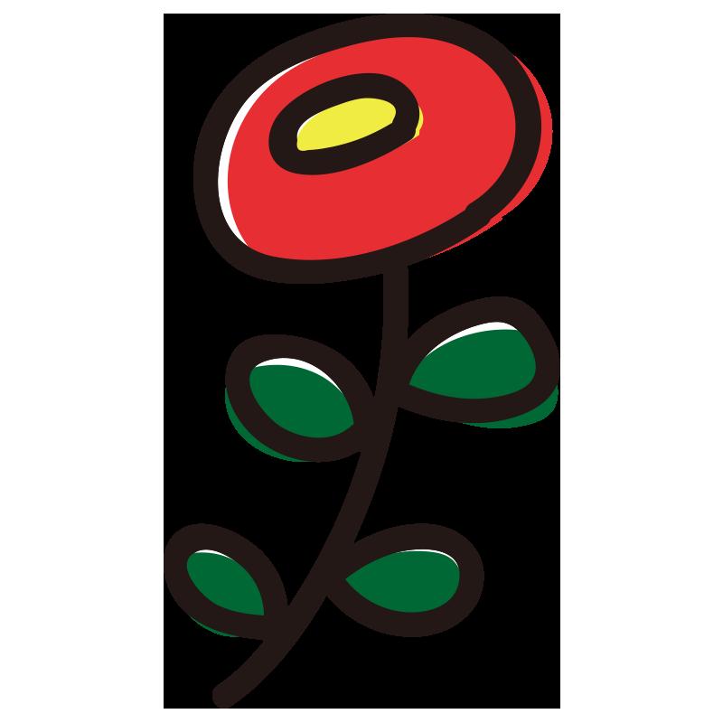 丸い赤い花