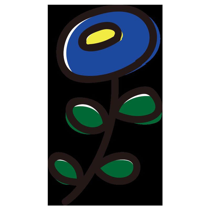 丸い青い花
