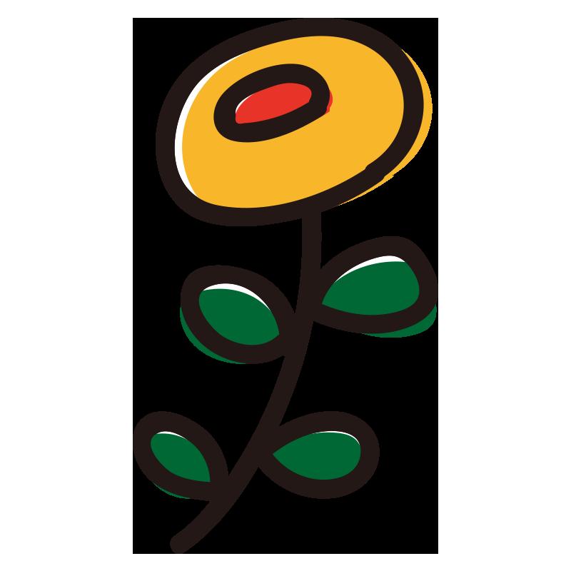 丸い黄色い花