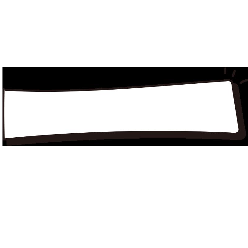 影と飾りのある四角