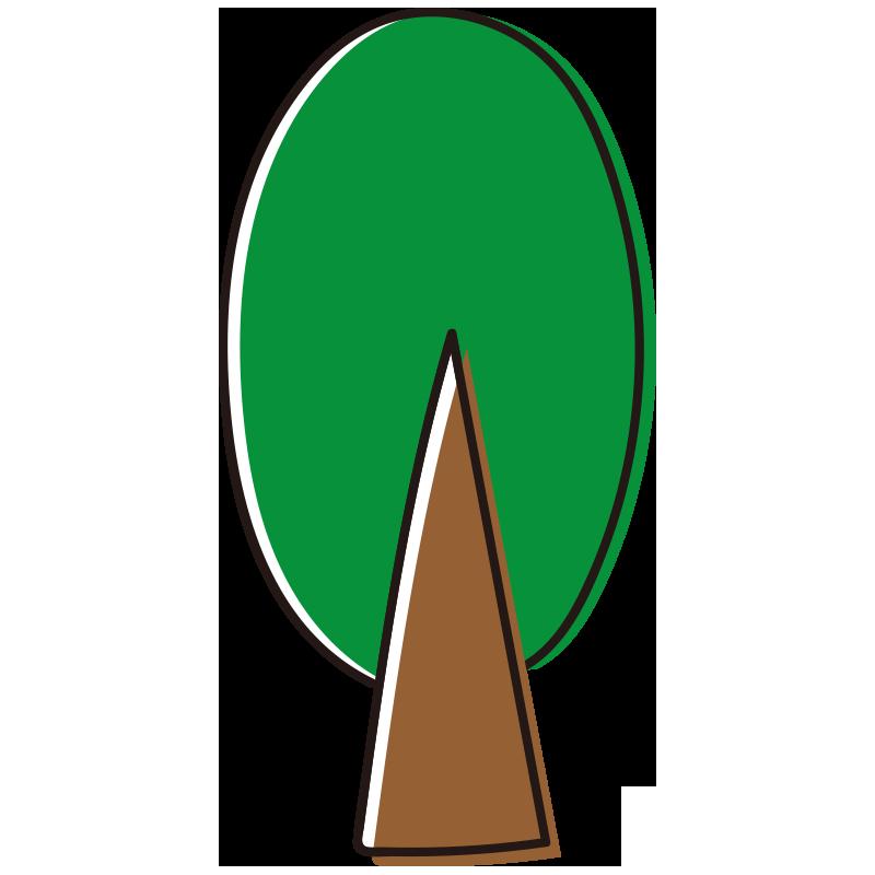 緑の大きい木