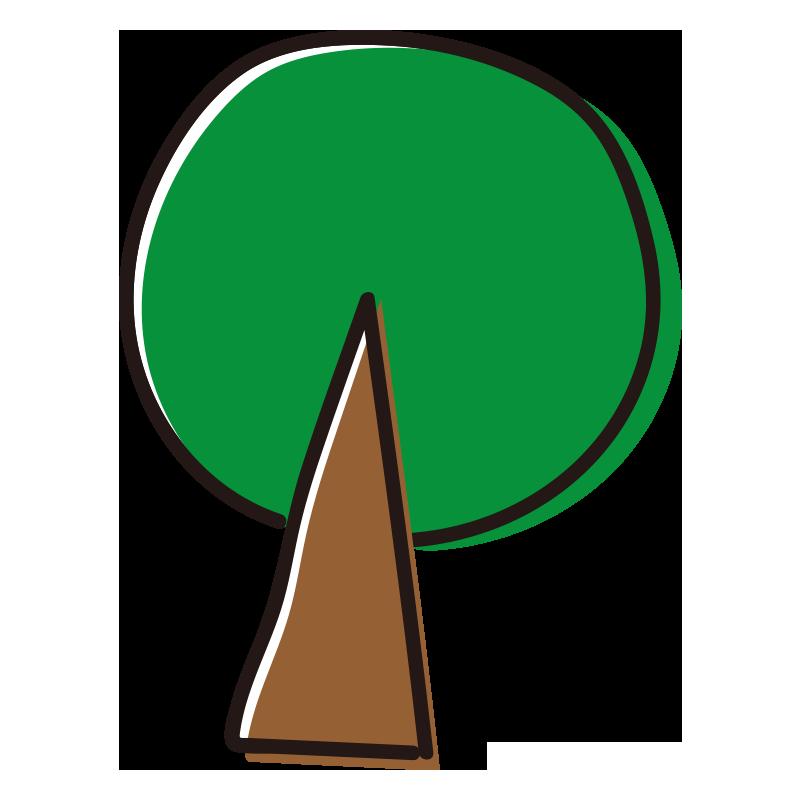 緑の小さい木