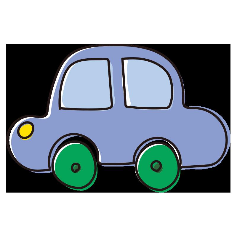 青い車のおもちゃ