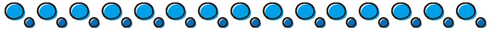 青い水玉のライン