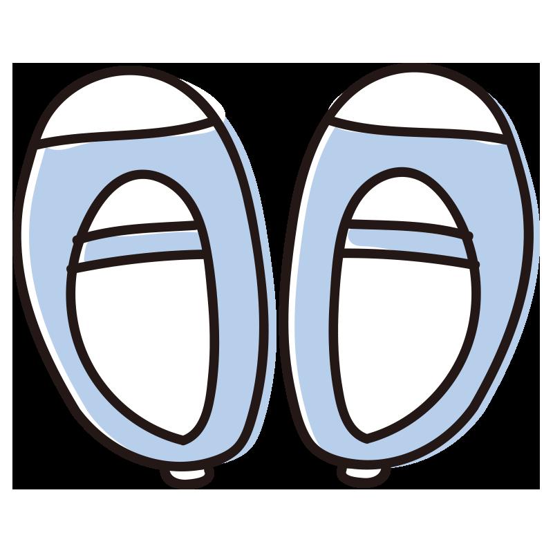 青い上履き