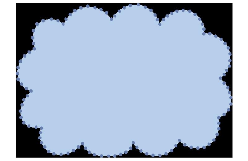 ふわふわドットの枠青