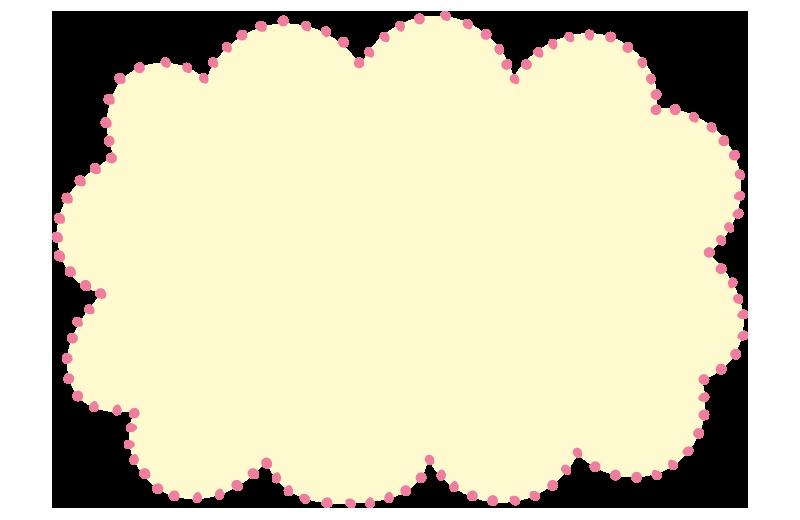 ふわふわドットの枠黄色