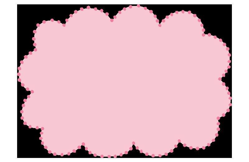 ふわふわドットの枠ピンク