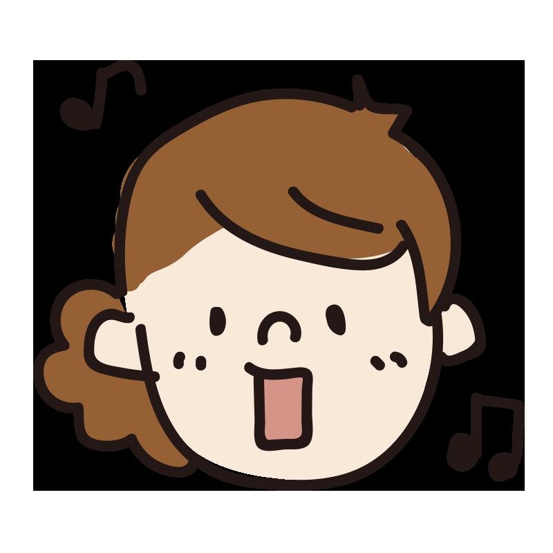 歌う女の人(ふわふわ)