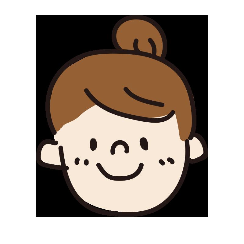 笑顔の女の人(お団子)