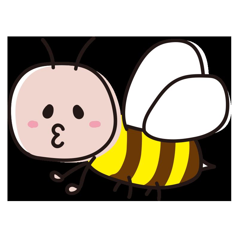 顔のある口を尖らせた蜂