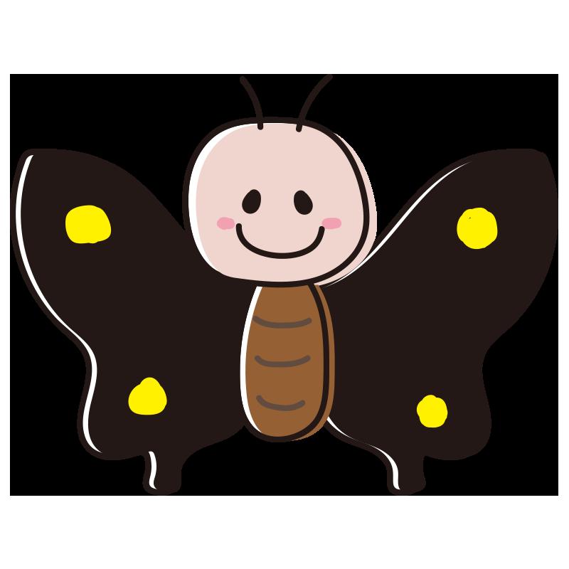 顔のある黒い蝶