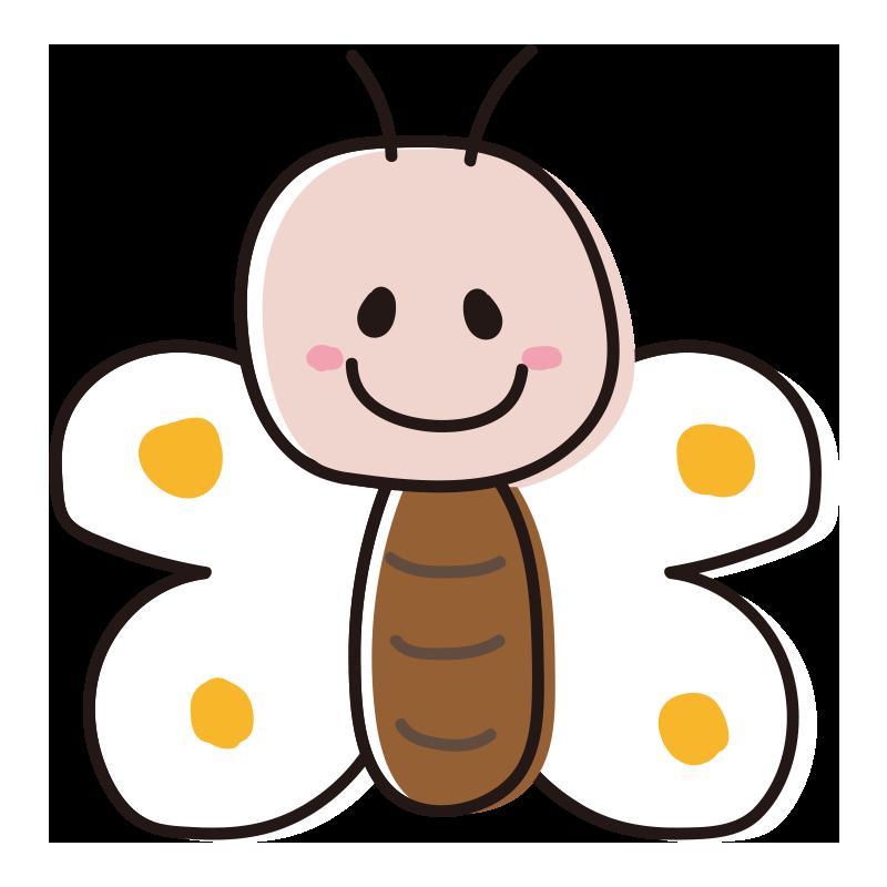 顔のある白い蝶