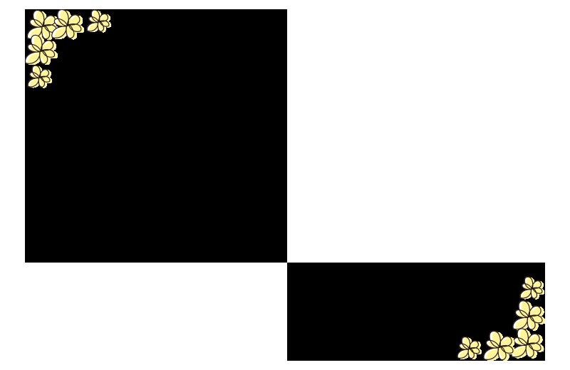 黄色い小花の枠