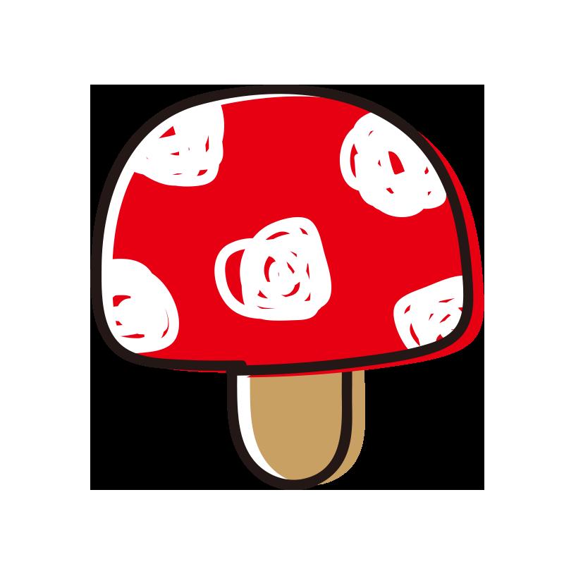 赤いキノコ