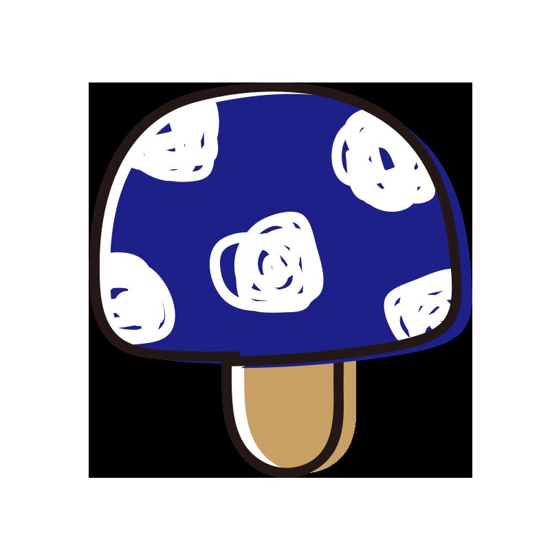 青いキノコ