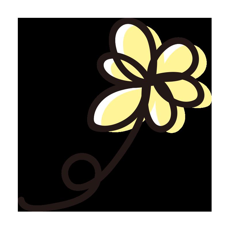 くるっとした黄色い花