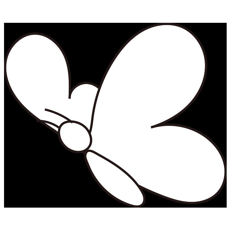 シンプルな蝶(斜め)