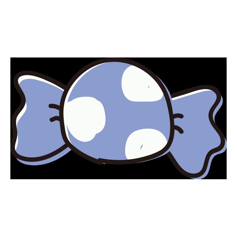 青い水玉のキャンディ