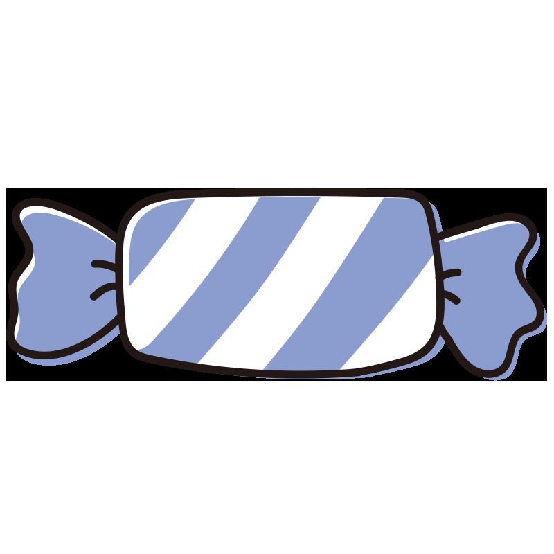 青いしましまのキャンディ