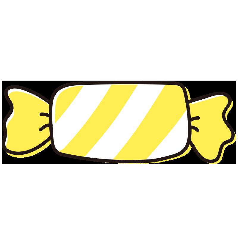 黄色いしましまのキャンディ