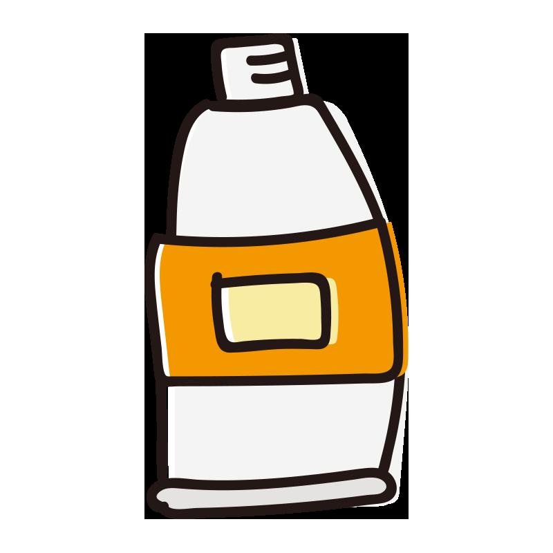 キャップのない橙色の絵具