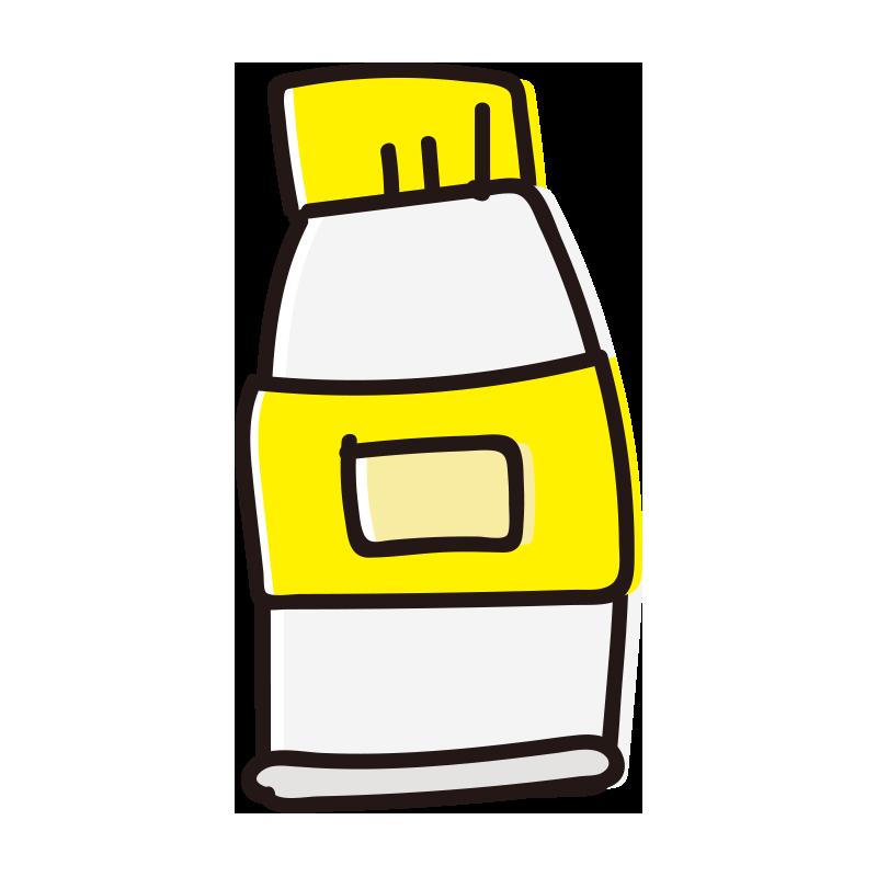 黄色の絵具