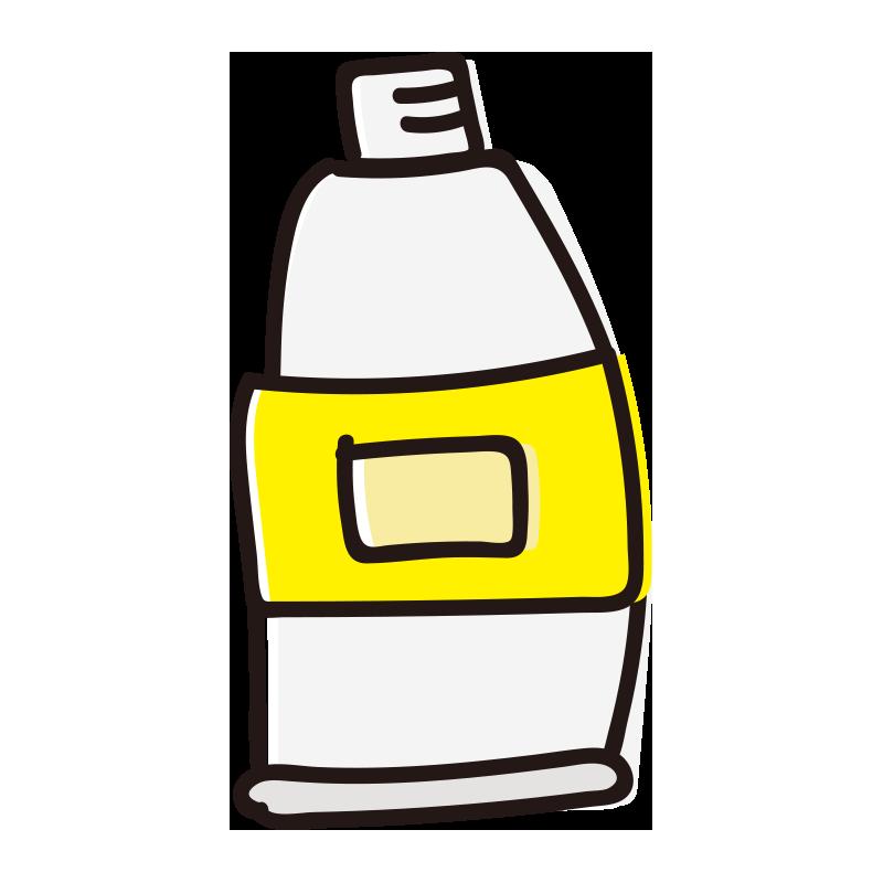 キャップのない黄色の絵具