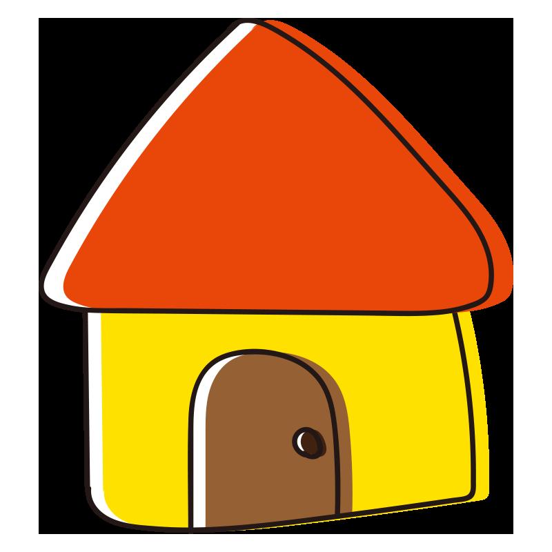 オレンジの屋根の家