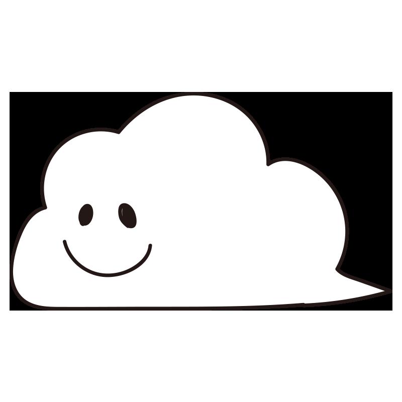 表情のある流れる白い雲