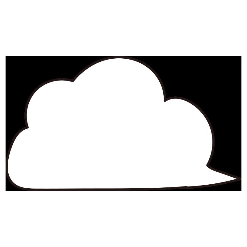流れる白い雲