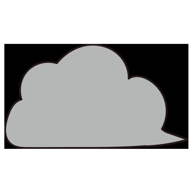 流れる暗い雲