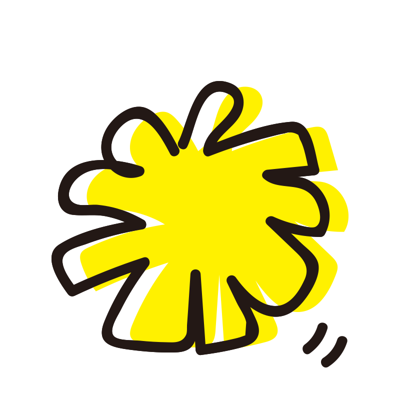 黄色いポンポン