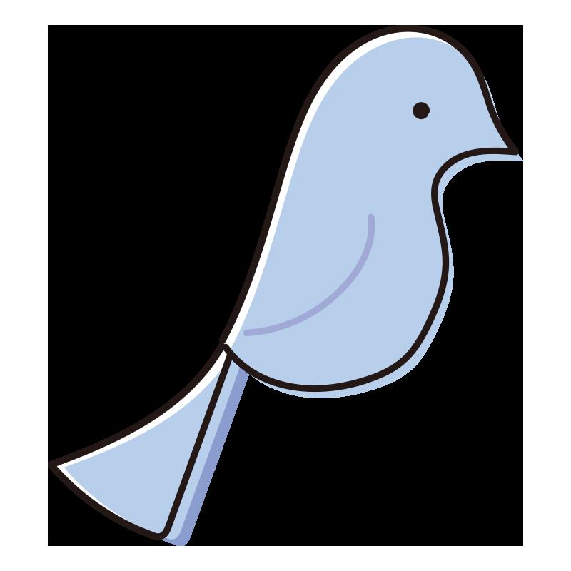 とまっている青い鳥