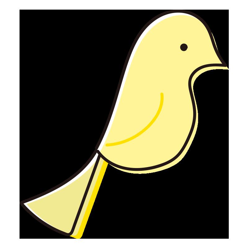 とまっている黄色い鳥