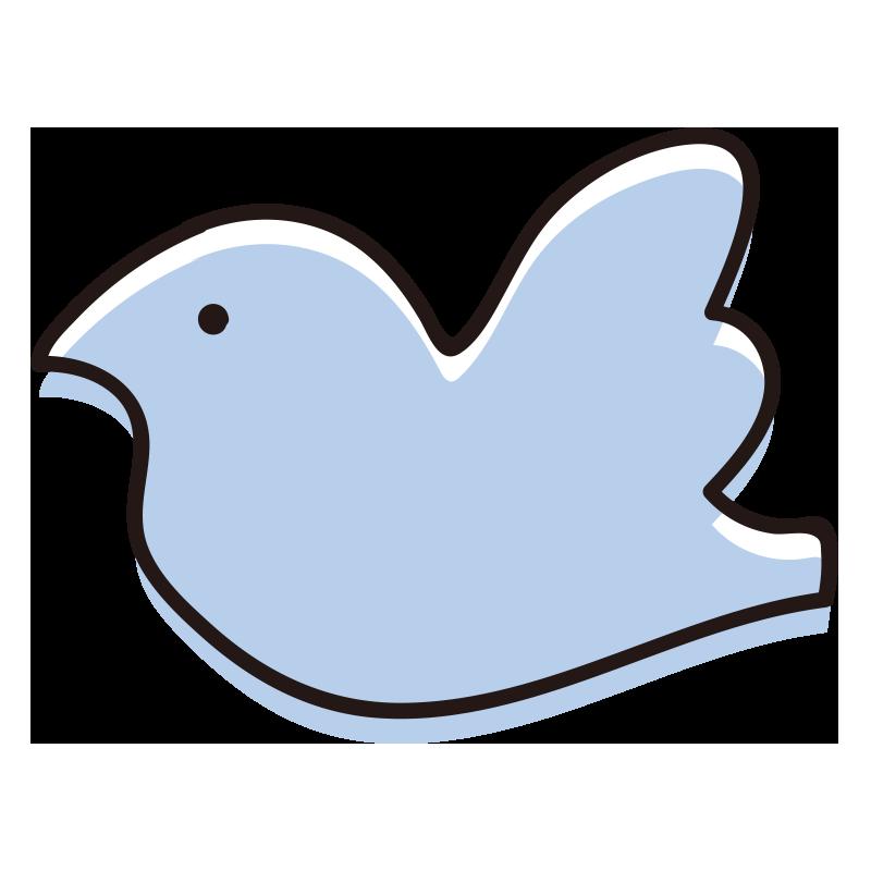 シンプルな横向きの鳥青