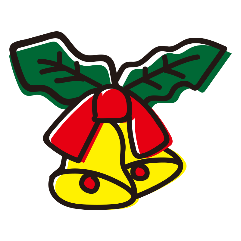 クリスマス2つの鈴の飾り1