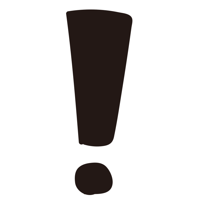 四角いビックリマーク黒