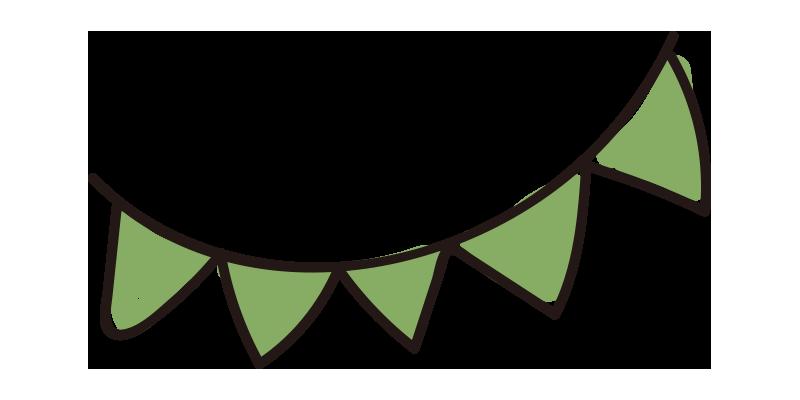 緑のガーランド