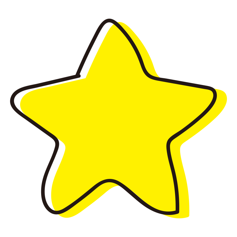 角丸の星1