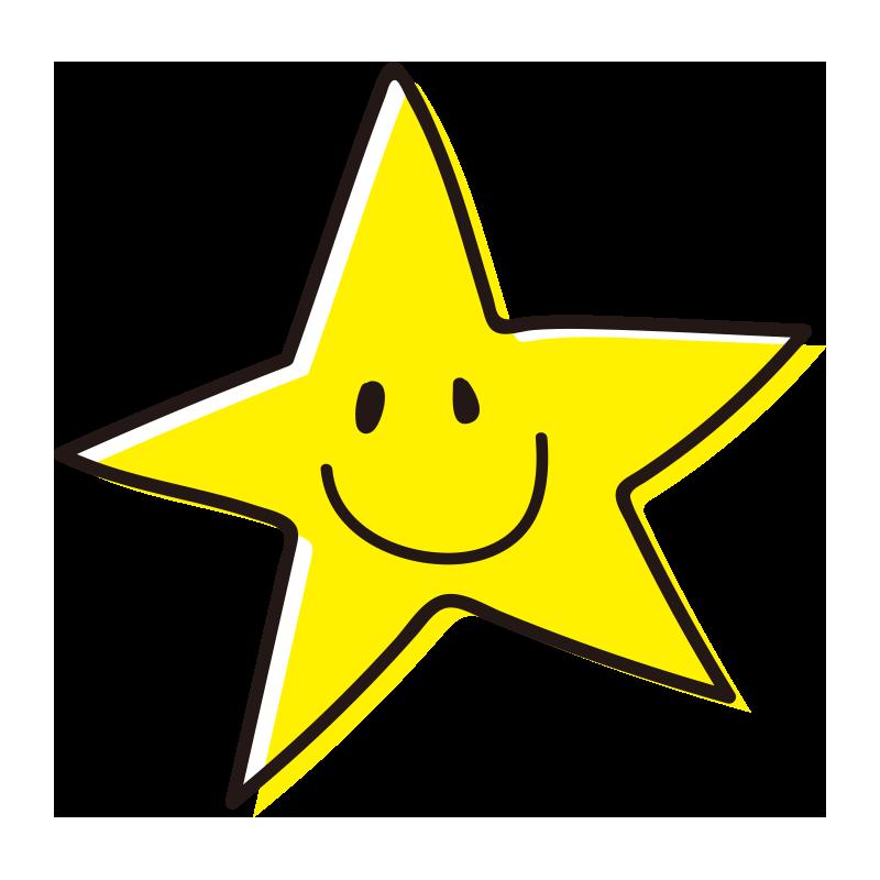 とがった笑顔の星1