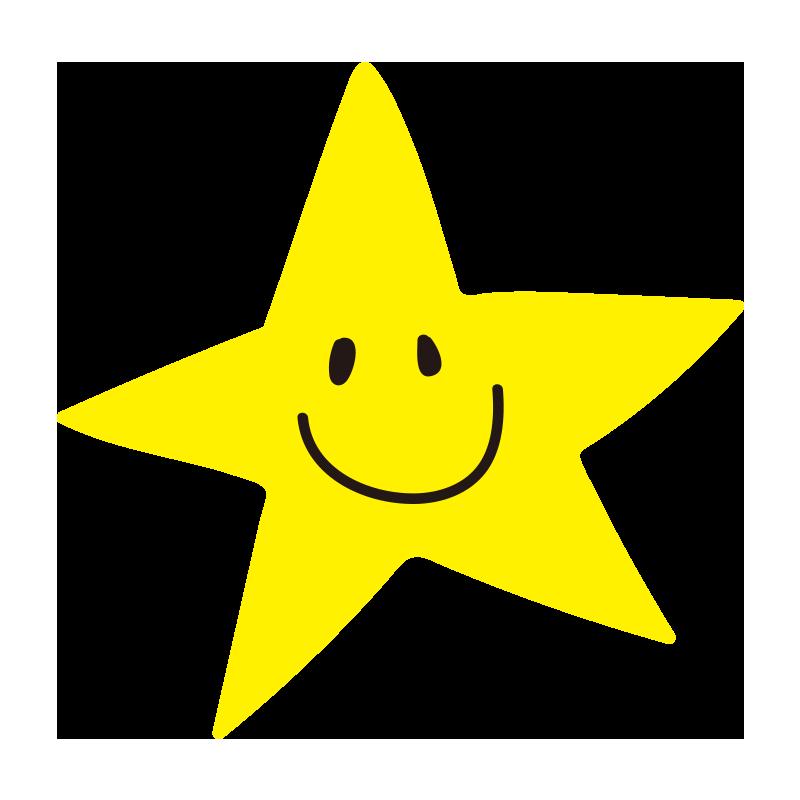 とがった笑顔の星2