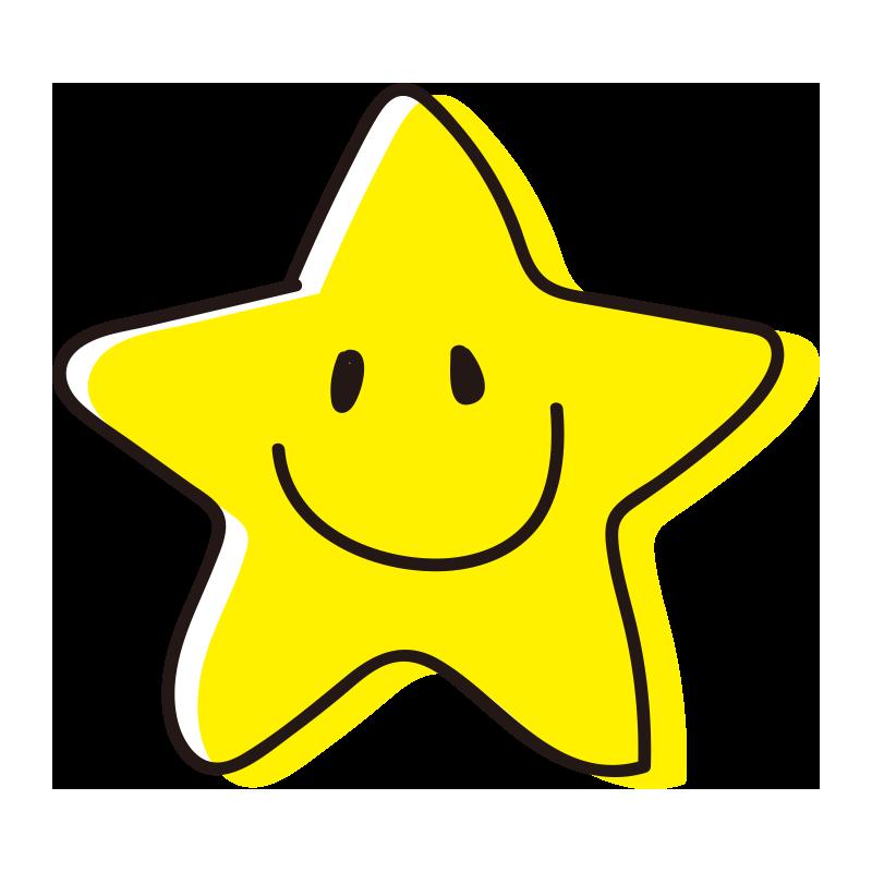 角丸の笑顔の星1